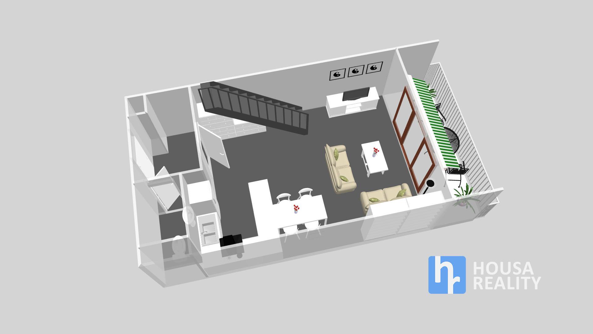 První podlaží bytu